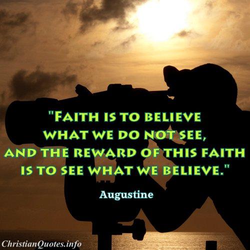 augustine quote faith