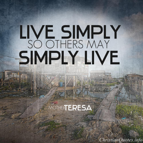 mother teresa quote live simple