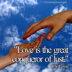 Conqueror of Lust - C.S. Lewis