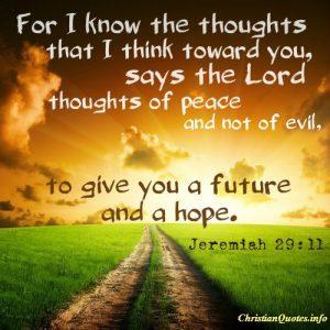 Jeremiah 29:11 Quote - Image