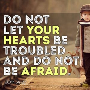 Do not let your hearts be troubled and do not be afraid